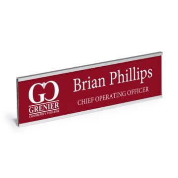 Wall Mount Engraved Nameplate