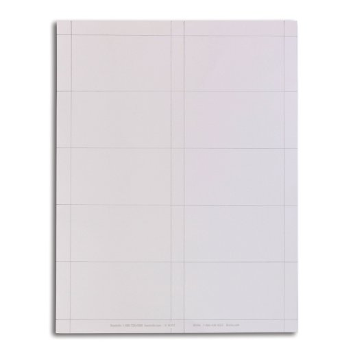 Business Card Blank White Badge Stock