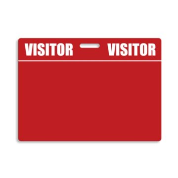 Reusable Badge Tags - Visitor