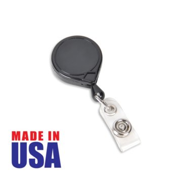 Made in the USA Black Round Badge Reel