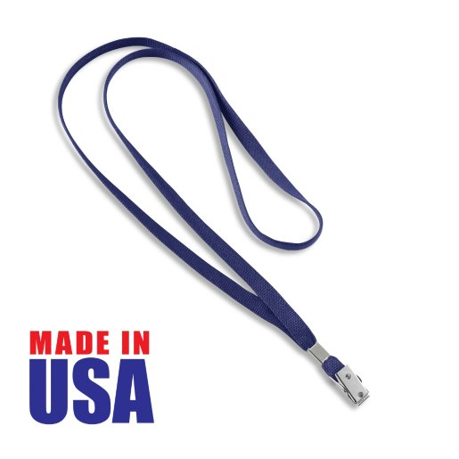 Made in the USA Blank Flat Woven Lanyard