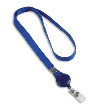 Blue Lanyard Badge Reel Combo