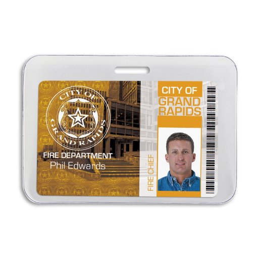 Anti-Print Transfer Horizontal Badge Holder