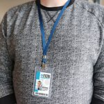 Anti-Print Transfer Vertical Badge Holder
