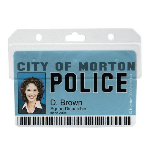 Horizontal Swipe Card Badge Holder