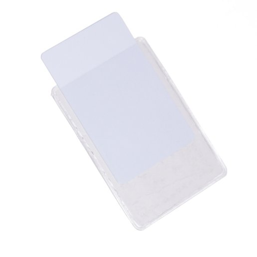 Badge Holder - Clear Vinyl w/ Adhesive