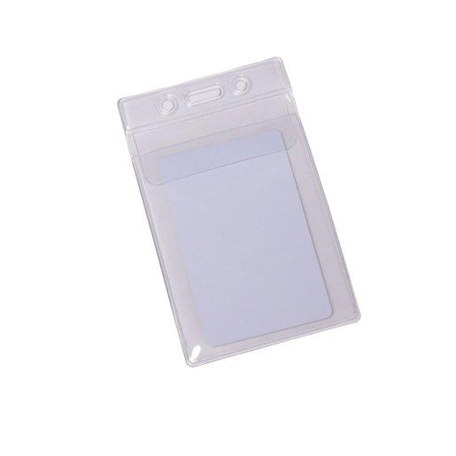 Badge Holder - Fold-Over Flap - Vertical