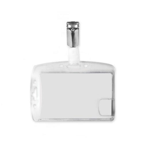 Multi Card 2-Way Rigid Plastic Badge Holder with Clip