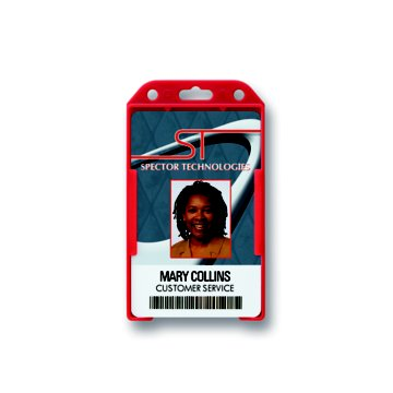 Rigid Vertical Open-Face Badge Holder