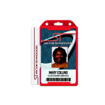 Rigid Two Sided Vertical Open-Face Badge Holder
