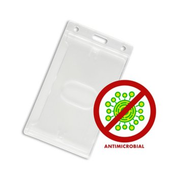 Anti-Microbial Rigid Badge Holders - 50 Pack