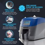ID Maker Apex 1-Sided Card Printer with Magnetic Stripe Encoder