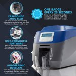 ID Maker Edge 2-Sided Card Printer with Mag Stripe Encoder