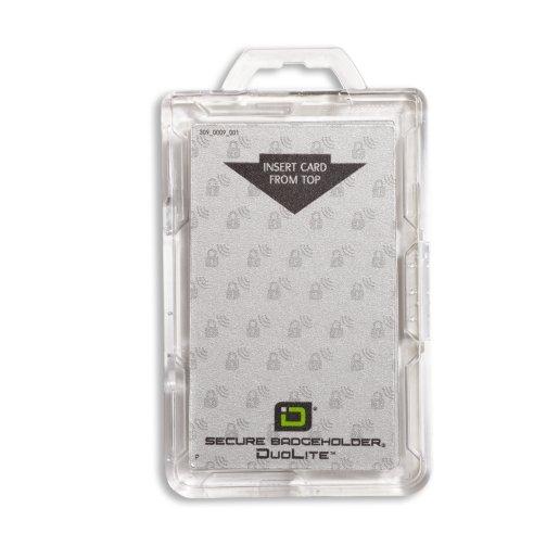 Clear RFID Secure Badge Holder
