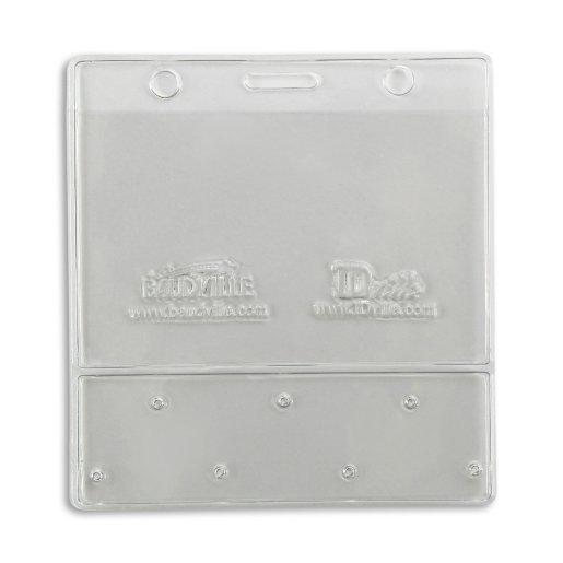 Horizontal Badge Holder with Lapel Pin Display