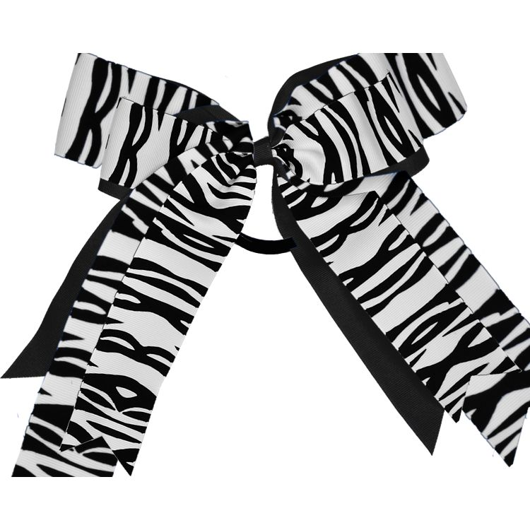 2 Layer Zebra Bow