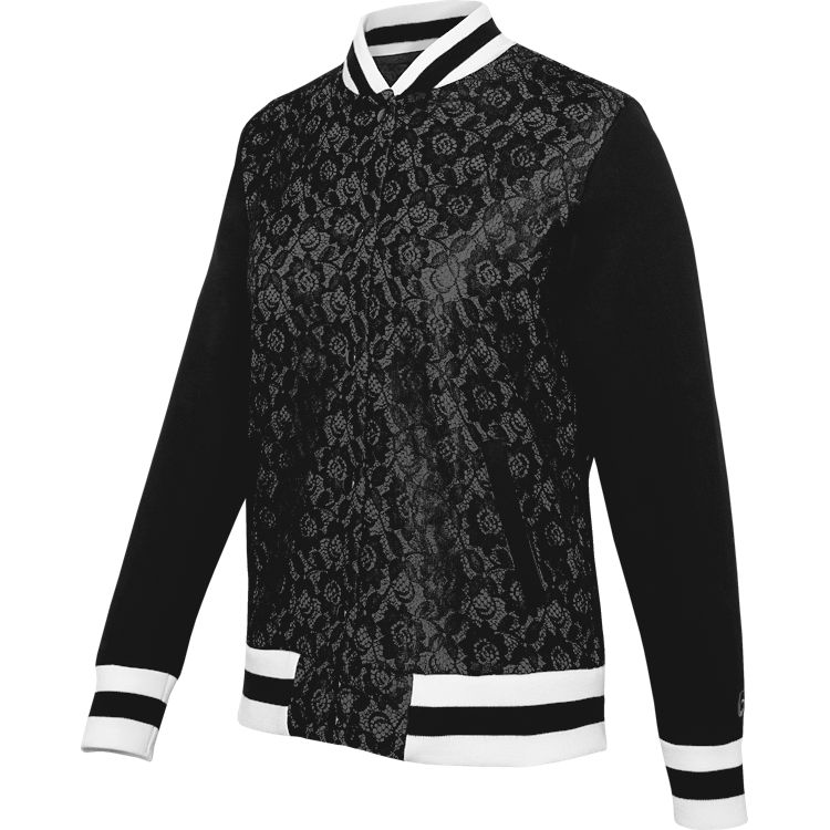 Lace Varsity Jacket