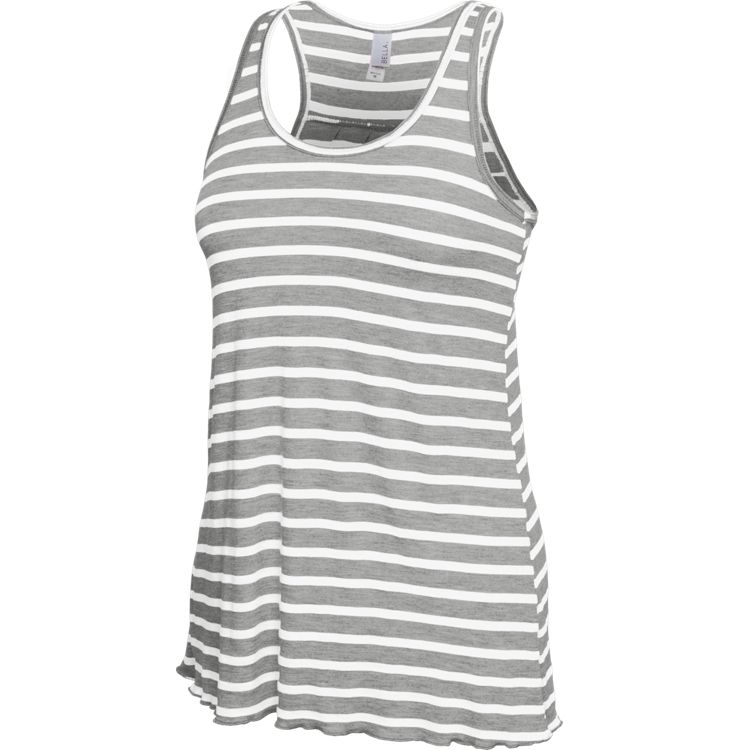 Striped Flowy Racerback Tank