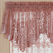 JCPenney Home™ Shari Lace Rod-Pocket Ascot Valance
