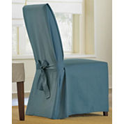 SURE FIT® Cotton Duck Dining Chair Slipcover - Long