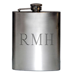 Satin Stainless Steel Engravable Flask