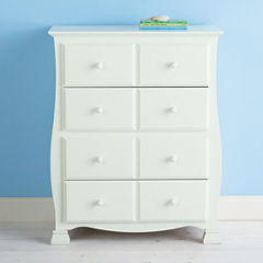 Savanna 4-Drawer Nursery Dresser - Off White