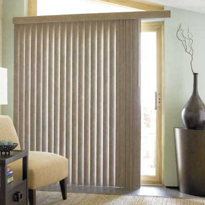 JCPenney Home™ Suede Look Vinyl Vertical Blinds