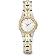 Pulsar® Womens Crystal-Accent Dress Watch PTC388
