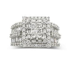 3 CT. T.W. Diamond Engagement Ring 14K White Gold