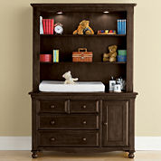Bedford Baby Monterey Changing Table or Hutch - Chocolate Mist