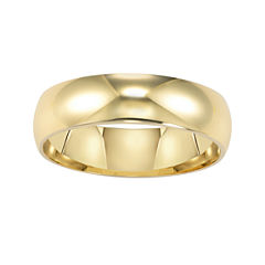 14K Gold 6mm Men's Ring