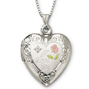 I Love You Sterling Silver Heart Locket