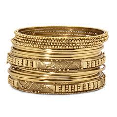 Mixit™ 14-pc. Gold-Tone Bangle Bracelet Set