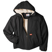 Dickies Sanded Duck Sherpa Lined Hooded Jacket Big and Tall