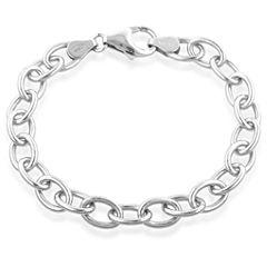 Sterling Silver Charm Link Bracelet