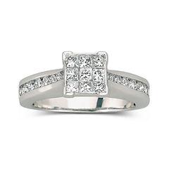 1 CT. T.W. Diamond Engagement Ring 10K White Gold