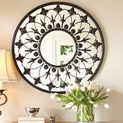 Regal Scroll Round Wall Mirror