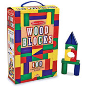 Melissa & Doug 100-pc. Wood Blocks Set
