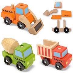 Melissa & Doug® Stacking Construction Toy Trucks
