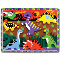 Melissa & Doug® Dinosaurs Chunky Wooden Puzzle