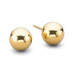 14K Gold 4mm Ball Earrings
