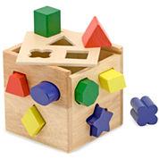 Melissa & Doug® Shape Sorting Cube Learning Toy
