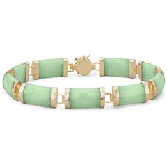 Jade Bracelet 14K/Sterling Silver