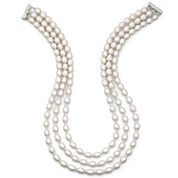 Cultured Freshwater Pearl Triple-Strand Necklace