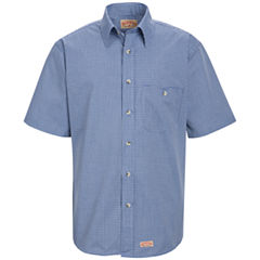 Red Kap® SP84 Mini Plaid Uniform Men's Shirt–Big & Tall