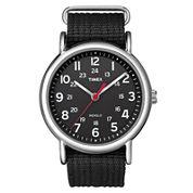 Timex® Weekender Black Fabric Strap Watch T2N647
