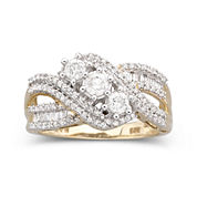 Love Lives Forever™ 3/4 CT. T.W. Diamond 10K Gold 3-Stone Ring