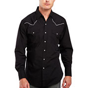 Ely Cattleman® Piped-Yoke Snap Shirt