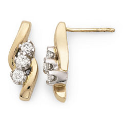 Sirena® ⅓ CT. T.W. Diamond 14K Yellow Gold Earrings