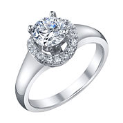Diamonore™ 1.24 CT. T.W. Simulated Diamond Ring